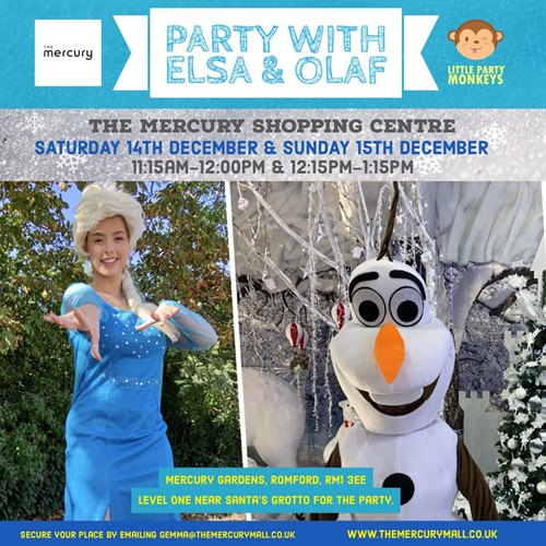 Children's Christmas party with Elsa & Olaf